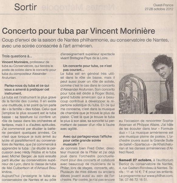 Concerto pour tuba par Vincent Morinière