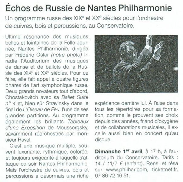 Echos de Russie de Nantes Philharmonie