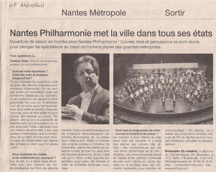 Nantes Philharmonie met la ville dans tous ses états