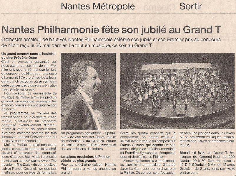 Nantes Philharmonie fête son jubilé au Grand T