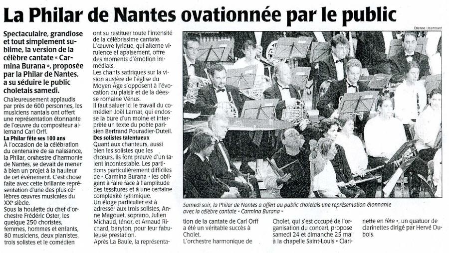 La Philhar de Nantes ovationnée par le public