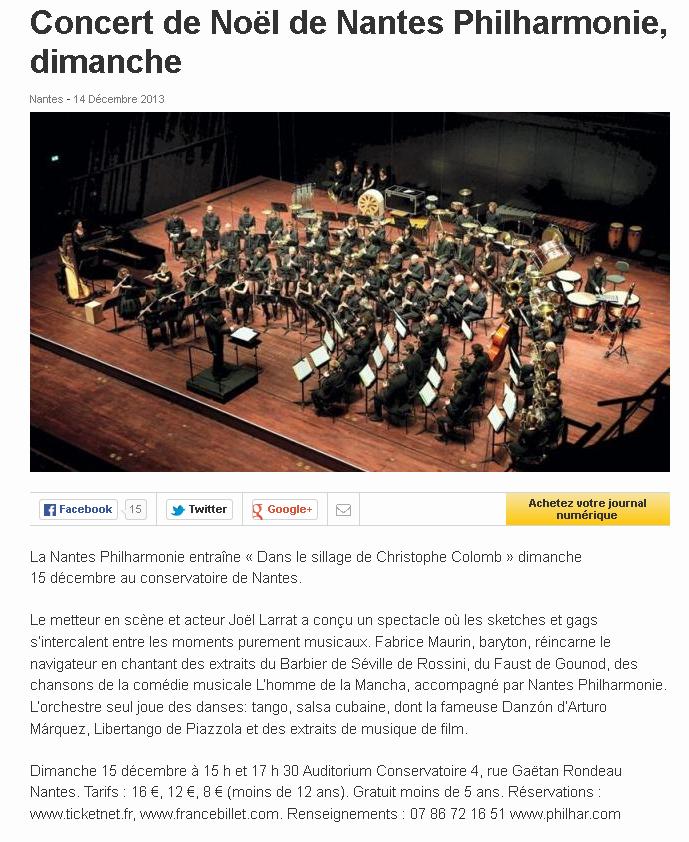 Concert de Noël de Nantes Philharmonie, dimanche